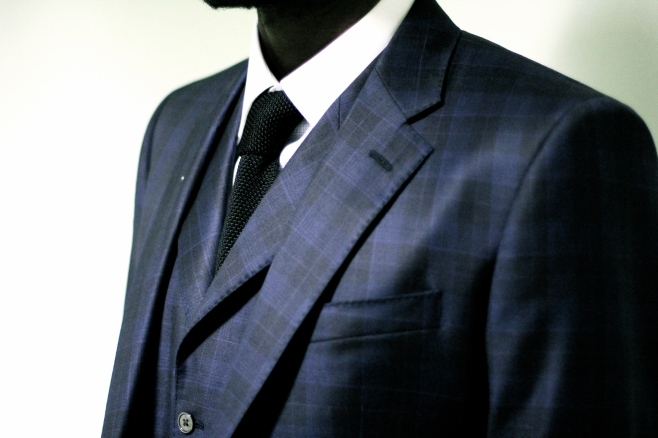 Knit tie by Paul Williams, Bespoke Shirt & Suit by Roberto Revilla